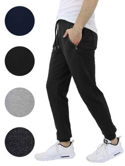 Mens Jogger Sweatpants With Zipper Pockets French Terry Loun