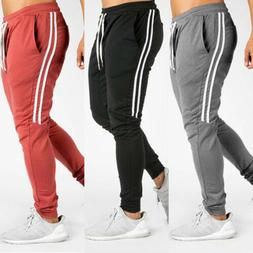 Mens Long Casual Sport Pants Gym Slim Fit Trousers Running J