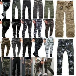 Mens Military Combat Camouflage Long Pants Trousers Cargo Ca
