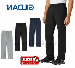 Mens Gildan Open Bottom Sweatpants Casual Retro Style Workou