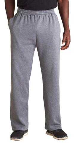 Mens Open Bottom Sweatpants Fruit of The Loom With Pockets M