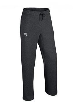 NIKE Mens Open Hem Fleece Pocket Sweatpants Dark Grey/White