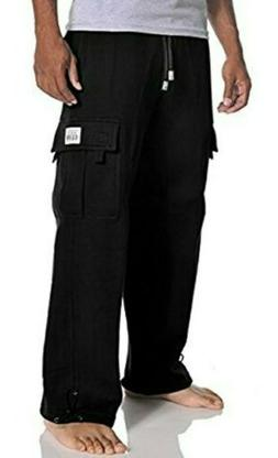 PROCLUB PRO CLUB MENS PLAIN CARGO PANTS 5 POCKET HEAVYWEIGHT