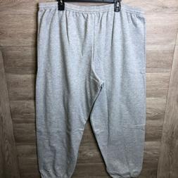 Hanes Mens Plus Size 2XL Light Steel Grey Ecosmart Fleece Sw
