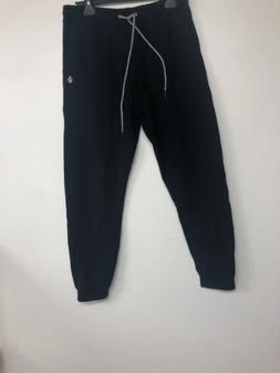 Volcom Mens Single Stone Fleece Pant, Black, Small
