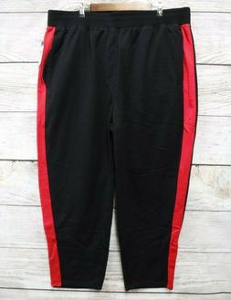 Sean John Mens Size 5X 5XL 5XB Black & Red Side Striped Flee