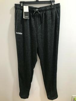adidas Mens Size L Black Plain Tapered Sweatpants $45 NWT #D
