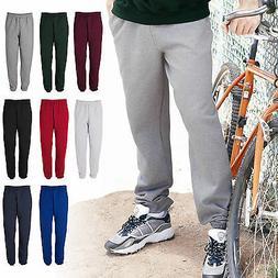 Super Sweats Cotton/Poly Elastic Bottom Mens Sweatpants With