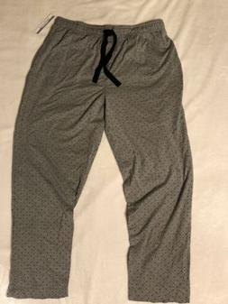 Van Heusen Mens Sleepwear XL Gray Sweatpants 2 Pockets, Draw