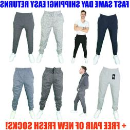 Mens SLIM FIT Casual Jogger active Sweatpants Cotton Fleece
