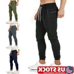 Mens Slim Fit Tracksuit Bottoms Skinny Joggers Sweat Pants G