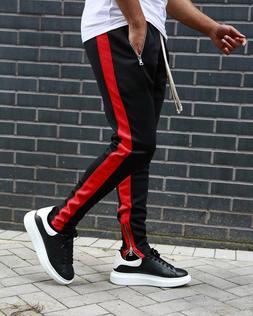 Mens Slim Fit Tracksuit Sport Gym Skinny Jogging Joggers Swe