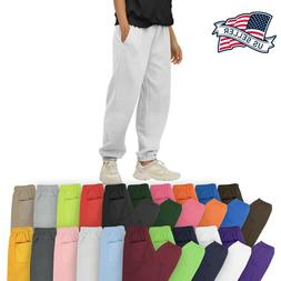 Mens Sweatpants Fleece Jogger Workout Gym Pants S - 5XL Camp