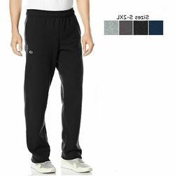 Champion Mens Sweatpants Powerblend Fleece Open Bottom Pants