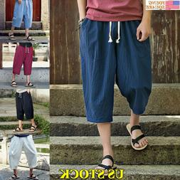 Mens Sweatpants Shorts Workout Gym Sports Clothing Fitness R