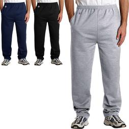 Champion Mens Sweatpants with Pocket and Open Bottom AND Poc