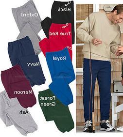 Mens Sweatpants With POCKETS Super Sweats Cotton/Poly Elasti