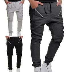 Mens Tech Fleece Jogger Sweatpants With Zipper Pockets & Mes