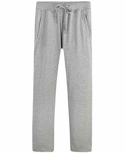 Nidicus Mens Zipper Pockets Open Bottom Sweatpants with Draw