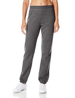 Hanes Women's Mid Rise Cinch Bottom Fleece Sweatpant, Slate
