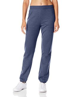 Hanes Women's Mid Rise Cinch Bottom Fleece Sweatpant, Navy H