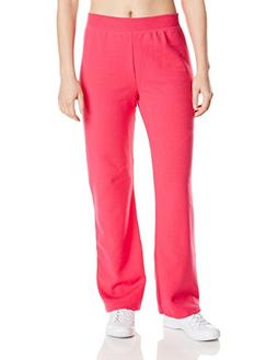Hanes Women's Middle Rise Sweatpant, Sizzling Pink, Small