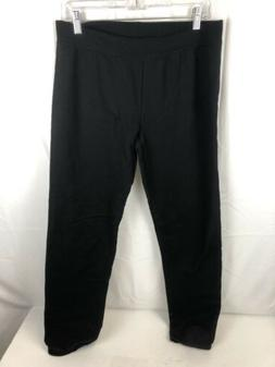 Hanes Women's Middle Rise Sweatpant, Ebony, Medium