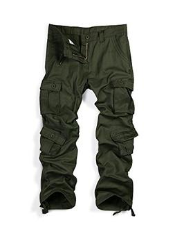 Must Way Men's Causal Slim Fit Cargo Pants with Multi-Purpos