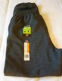 New, Fruit of the Loom Black Heather Fleece Sweat Pants Size