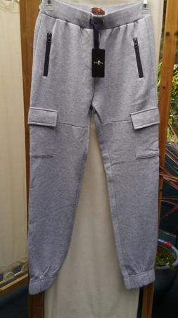 New 7 For All Mankind Boys Gray Jogger Fleece Lined Sweat Pa
