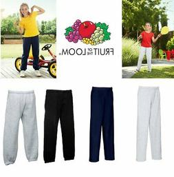 new fleece elastic sweat pant kids boys