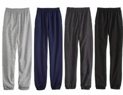 New Fruit Of The Loom Fleece Elastic Sweat Pant Men's Black