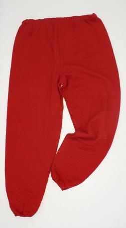 new JERZEES Men's Closed Bottom Classic Sweatpants Red 3XL X