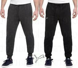 NEW PUMA MEN'S ESSENTIAL FRENCH TERRY SWEATPANTS! RIBBED KNI