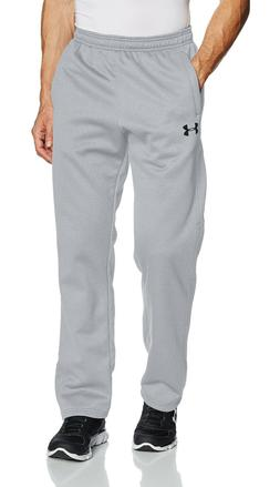 NWT UNDER ARMOUR Fleece Jogger Sweatpants Gray Black Heathered Blue Steel Gray