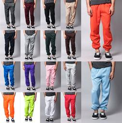 New Men's GYM Workout Basic Elastic Cuff Fleece Sweatpants