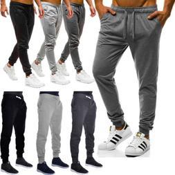 New Mens Slim Fit Tracksuit Bottoms Skinny Jogging Joggers S