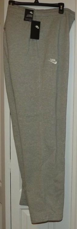 NEW MENS NIKE SPORTSWEAR CLUB FLEECE SWEATPANTS 3XL GRAY $45