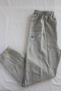 NEW Mens Hanes Sweatpants 2XL Gray Sweats Jogging Pants Work