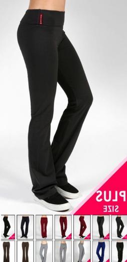 NEW Plus Size Fold Over Yoga Lounge Sweat Pant-XL/1X-2X-3X