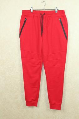 Southpole NEW Red Mens Size  XL Zip Pocket Jogging Sweat Pan