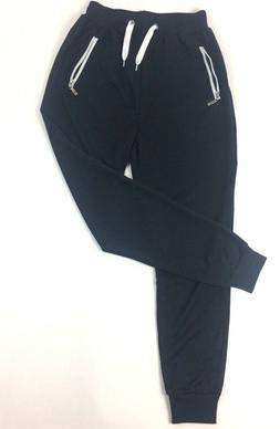 New Women's Activewear Black Soft Sweatpants with White acce