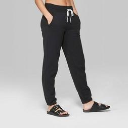 NEW Wild Fable Women's Jogger Vintage Sweatpants - Black - S