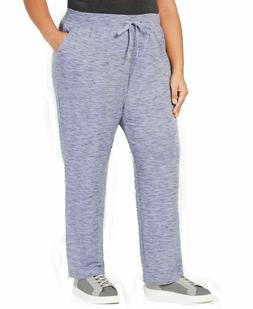 NEW Ideology Women's Plus Size Heathered Drawstring Joggers