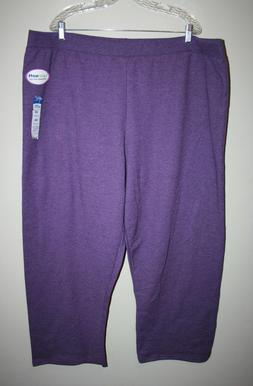 NEW Womens JMS by HANES Purple Sweatpants Sweats Plus Size 4