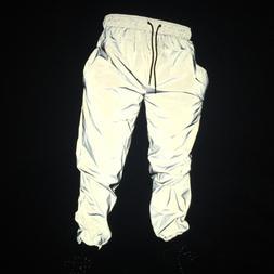 Newest men hip hop pants night jogger reflective streetwear