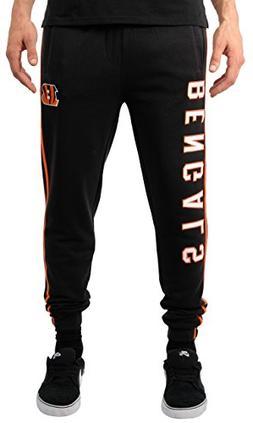 NFL Cincinnati Bengals Men's Jogger Pants Varsity Stripe Fle