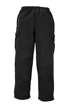 North 15 Men's Heavy Fleece Sweat Pants with Cargo Pockets-L