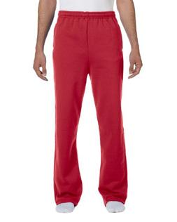 Jerzees Men's NuBlend 50/50 Open-Bottom Pocket Sweatpant, Tr