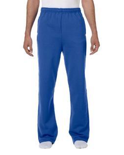 Jerzees Men's NuBlend 50/50 Open-Bottom Pocket Sweatpant, Ro